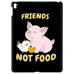 Friends Not Food   Cute Pig And Chicken Apple Ipad Pro 9 7   Black Seamless Case by Valentinaart