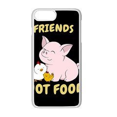Friends Not Food   Cute Pig And Chicken Apple Iphone 7 Plus Seamless Case (white) by Valentinaart