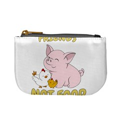 Friends Not Food   Cute Pig And Chicken Mini Coin Purses by Valentinaart