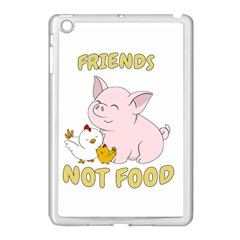 Friends Not Food   Cute Pig And Chicken Apple Ipad Mini Case (white) by Valentinaart