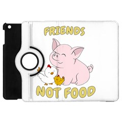 Friends Not Food   Cute Pig And Chicken Apple Ipad Mini Flip 360 Case by Valentinaart
