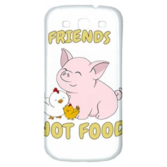Friends Not Food   Cute Pig And Chicken Samsung Galaxy S3 S Iii Classic Hardshell Back Case by Valentinaart