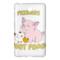 Friends Not Food   Cute Pig And Chicken Samsung Galaxy Tab 4 (8 ) Hardshell Case  by Valentinaart