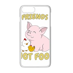 Friends Not Food   Cute Pig And Chicken Apple Iphone 8 Plus Seamless Case (white) by Valentinaart