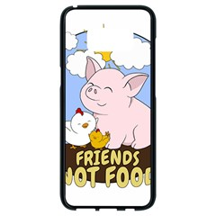 Friends Not Food   Cute Pig And Chicken Samsung Galaxy S8 Black Seamless Case by Valentinaart