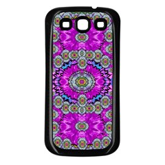 Spring Time In Colors And Decorative Fantasy Bloom Samsung Galaxy S3 Back Case (black) by pepitasart