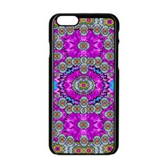 Spring Time In Colors And Decorative Fantasy Bloom Apple Iphone 6/6s Black Enamel Case by pepitasart