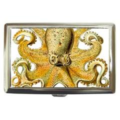 Gold Octopus Cigarette Money Cases by vintage2030