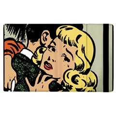 Hugging Retro Couple Apple Ipad 3/4 Flip Case by vintage2030