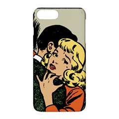Hugging Retro Couple Apple Iphone 8 Plus Hardshell Case by vintage2030