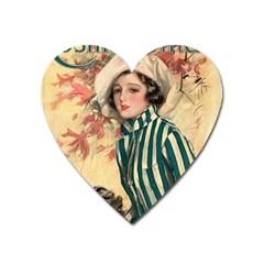 Cosmopolitan Fc November 1917 Heart Magnet by vintage2030