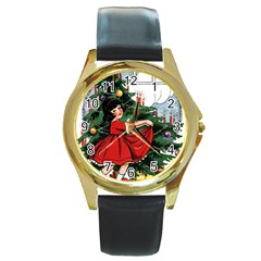 Christmas 1912802 1920 Round Gold Metal Watch by vintage2030