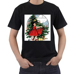 Christmas 1912802 1920 Men s T Shirt (black) (two Sided) by vintage2030