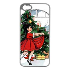 Christmas 1912802 1920 Apple Iphone 5 Case (silver) by vintage2030