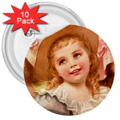 Girls 1827219 1920 3  Buttons (10 Pack)  by vintage2030