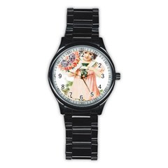 Girl 1731727 1920 Stainless Steel Round Watch by vintage2030