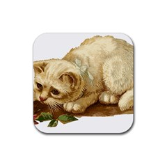 Cat 1827211 1920 Rubber Square Coaster (4 Pack)  by vintage2030