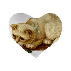 Cat 1827211 1920 Standard 16  Premium Flano Heart Shape Cushions by vintage2030