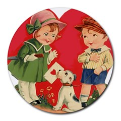 Children 1731738 1920 Round Mousepads by vintage2030