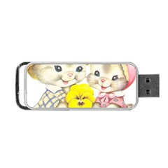 Rabbits 1731749 1920 Portable Usb Flash (two Sides) by vintage2030