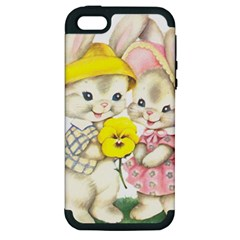 Rabbits 1731749 1920 Apple Iphone 5 Hardshell Case (pc+silicone) by vintage2030