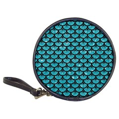 Scales3 Black Marble & Turquoise Glitter Classic 20 Cd Wallets by trendistuff
