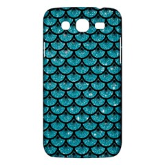 Scales3 Black Marble & Turquoise Glitter Samsung Galaxy Mega 5 8 I9152 Hardshell Case  by trendistuff