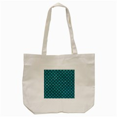 Scales2 Black Marble & Turquoise Glitter Tote Bag (cream) by trendistuff