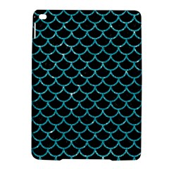 Scales1 Black Marble & Turquoise Glitter (r) Ipad Air 2 Hardshell Cases by trendistuff