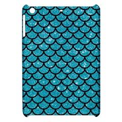 Scales1 Black Marble & Turquoise Glitter Apple Ipad Mini Hardshell Case by trendistuff