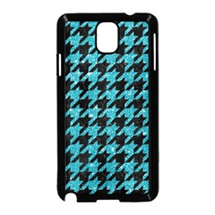Houndstooth1 Black Marble & Turquoise Glitter Samsung Galaxy Note 3 Neo Hardshell Case (black) by trendistuff