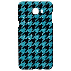 Houndstooth1 Black Marble & Turquoise Glitter Samsung C9 Pro Hardshell Case  by trendistuff