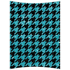 Houndstooth1 Black Marble & Turquoise Glitter Back Support Cushion by trendistuff