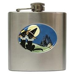 Black Cat 1462738 1920 Hip Flask (6 Oz) by vintage2030
