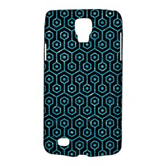 Hexagon1 Black Marble & Turquoise Glitter (r) Galaxy S4 Active by trendistuff