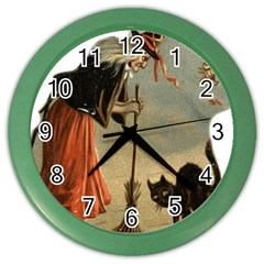 Witch 1461961 1920 Color Wall Clocks by vintage2030