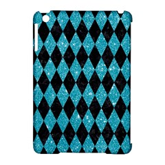 Diamond1 Black Marble & Turquoise Glitter Apple Ipad Mini Hardshell Case (compatible With Smart Cover) by trendistuff