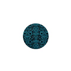 Damask2 Black Marble & Turquoise Glitter (r) 1  Mini Magnets by trendistuff