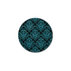 Damask1 Black Marble & Turquoise Glitter (r) Golf Ball Marker by trendistuff
