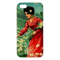 Lady 1334282 1920 Apple Iphone 5 Premium Hardshell Case by vintage2030