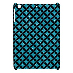 Circles3 Black Marble & Turquoise Glitter Apple Ipad Mini Hardshell Case by trendistuff