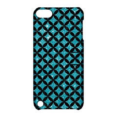 Circles3 Black Marble & Turquoise Glitter Apple Ipod Touch 5 Hardshell Case With Stand by trendistuff