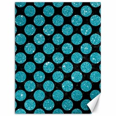 Circles2 Black Marble & Turquoise Glitter (r) Canvas 18  X 24   by trendistuff