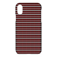 Indian Stripes Apple Iphone X Hardshell Case