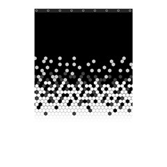 Flat Tech Camouflage Black And White Shower Curtain 48  X 72  (small)  by jumpercat