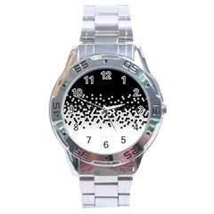 Flat Tech Camouflage Black And White Stainless Steel Analogue Watch by jumpercat