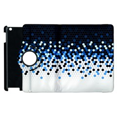 Flat Tech Camouflage Reverse Blue Apple Ipad 3/4 Flip 360 Case by jumpercat
