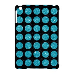 Circles1 Black Marble & Turquoise Glitter (r) Apple Ipad Mini Hardshell Case (compatible With Smart Cover) by trendistuff