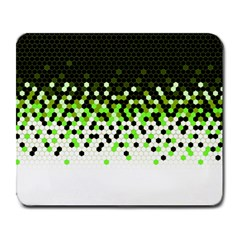 Flat Tech Camouflage Reverse Green Large Mousepads by jumpercat
