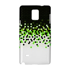 Flat Tech Camouflage Reverse Green Samsung Galaxy Note 4 Hardshell Case by jumpercat